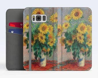 "Claude Monet, ""Bouquet of Sunflowers"". Samsung Galaxy S8 Wallet case. Samsung S7 wallet case. Samsung S6 wallet case. iPhone Wallet cases."
