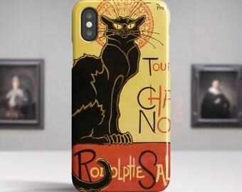 "Théophile Steinlen, ""Du Chat Noir"". iPhone X Case Art iPhone 8 Case iPhone 7 Plus Case and more. iPhone X TOUGH cases. Art iphone cases."