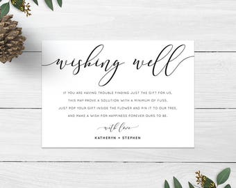 Wishing Well Cards Wedding Printable Poems