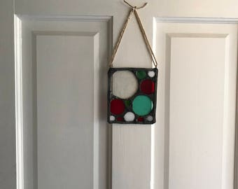 Christmas Wreath - Stained Glass - Indoor / Outdoor