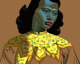Tretchikoff's Chinese Girl. Fine Art Giclée Print [400mm × 500mm / 16in × 20in]