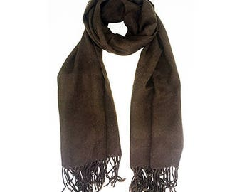 A Brown scarf with fringe