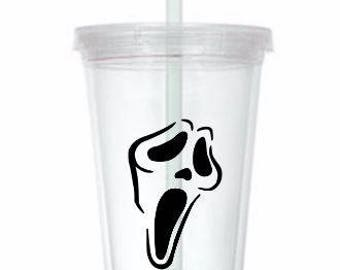 Scream Ghostface  Horror Tumbler Cup Gift Home Decor Gift for Her Him Any Color Personalized Custom
