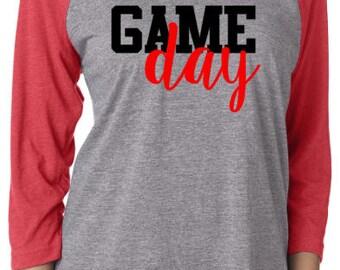 Game Day Shirt / Game Day Raglan / Personalized shirt / Baseball Tee / Football Shirt / Gifts For Her / Graphic Tees / Mom Shirts / T-Shirt