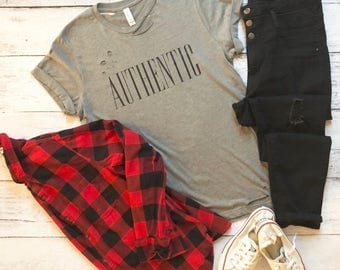 Authentic T-Shirt / Distressed T-Shirt / Handmade / Trendy T-Shirts / Gifts For Her / Trendy Tees / Graphic Tee / Graphic T-Shirt