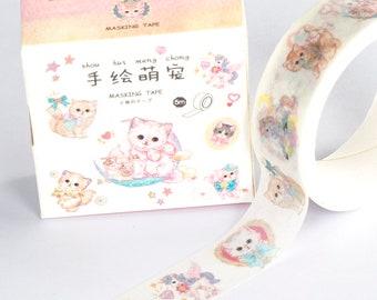 Washi Tape Present Cat   Cat Washi Tape   Kitten Washi Tape