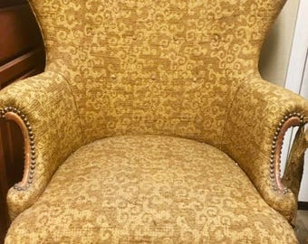 Spectacular Vintage Egg Chair High U0026 Wide Wingback!