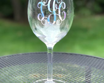 Monogrammed Wine Glasses, Personalized Wine Glasses, Bachelorette Party, Girls Night, Acrylic Wine Glasses