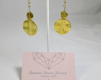 The Susan- Gold Disk Dangle Earrings