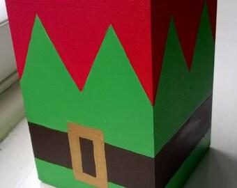 Hand Painted Christmas Elf Tea Light Holder