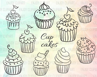 Cake Svg, Cupcake Svg, Cake Clipart, Cupcake Decal, Cupcake Clipart, Sweets Sign, Cricut Downloads, Svg Files For Cricut, Cuttable Svg, Dxf