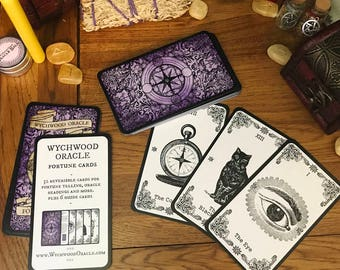 Wychwood Oracle Fortune Cards. Oracle Cards. Fortune Telling Cards. Oracle Deck. Tarot Alternative. Fortune Teller. Clairvoyant. Lenormand.