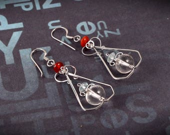So Gorgeous And With Beautiful Look 92.5 Sterling Silver Earring For Womens And Girls 5.42 Gms..Length 5.40 CM. Code MGJ 62