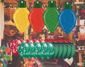 Holiday Lights 24 Piece Balloons