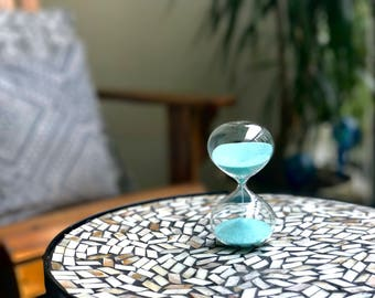 Gorgeous Glass Sand Timer (silky sand)
