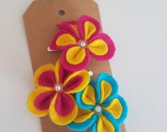 Rainbow Flower Hair Clip - The Penny