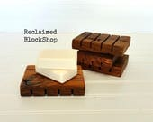 RESERVED LISTING for KCWILLOW~~Set of 4 Reclaimed Barnwood Soap Dishes from 100+ year old barnwood