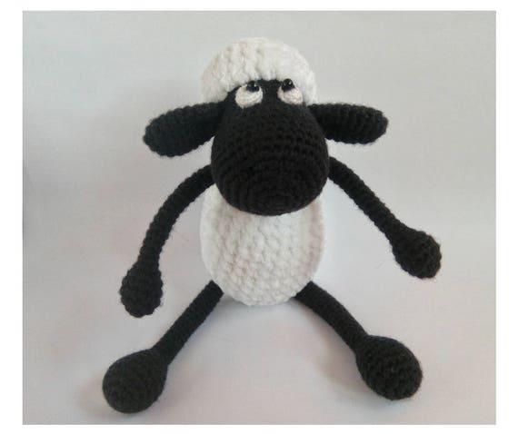 Crazy Black Sheep Amigurumi. Shaun The Sheep. Christmas