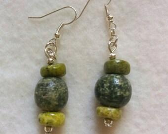 earring ethnic stone serpentine