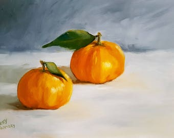 """Daily Painting -""""Two's Company"""" Netty Kozlovsky Original Oil Painting"""