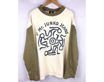 J2 Mr Junko Jeans Large Size Sweatshirt Big Logo