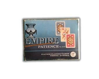 Vintage Piatnik 1976 Empire Patience Dual Deck Miniature Playing Cards