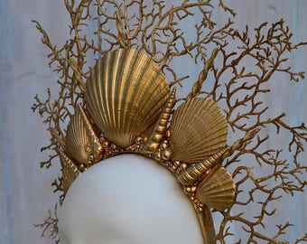 Mermaid gold crown