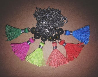 Tassle Necklace, Many Colors