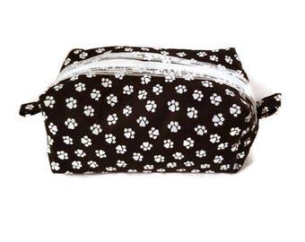 Cute Paw Print Cosmetic Bag