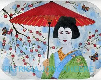 Maiko (Apprentice geisha) Butterfly