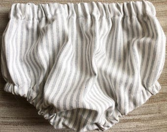 Grey & white striped classic bloomers