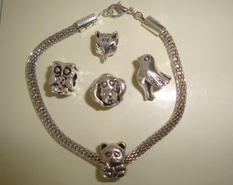 panda and snake chain bracelet