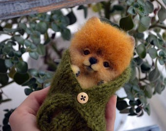 """Puppy """"Barny"""" - Needle felted animal - Felted toys - Needle felting"""