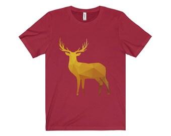 Golden Deer Silhouette Unisex Jersey Short Sleeve Tee