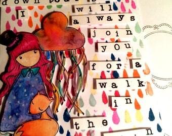 Inspiring Card Rainy Day Card Uplifting Message