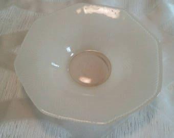 Vintage Geometric Shaped Dessert Plate/Octagon/Antique Decorative Accents/Dinnerware/Primitive Kitchen Accessories/Replacement/Used