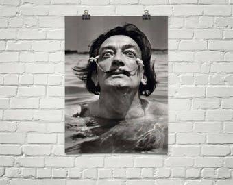 Salvador Dali Poster - Salvador Dali Art - Salvador Dali Print - Salvador Dali Photograph -Premium Semi-Gloss Photo Paper Poster