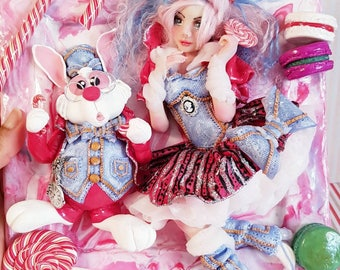 """Alice in Wonderland of... """"Jeans and candy"""" version"""