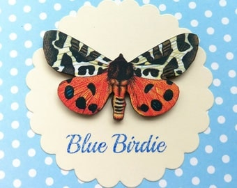 Butterfly brooch orange and black butterfly pin brooch gifts for her butterfly jewlery insect jewelry nature jewelry butterfly brooch pin