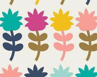 Fun! Art Gallery Blush Dutch Bloom Spring 100 % cotton Quilting fabric BSH-88400.  By the yard, cut to order