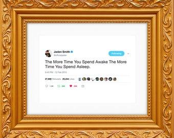 Jaden Smith Framed Tweet — Awake