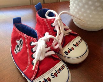 Vintage Baby Sylvester High top Baby Sneakers