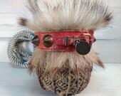 Collar animal vintage, decor old original, leather metal collar, circus holiday fun.