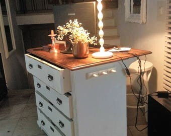 Kitchen island, Thresenkommode, white shabby, vintage, antique,