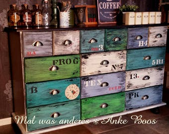 DREAM! Apothecary Cabinet chest of drawers shabby industrial