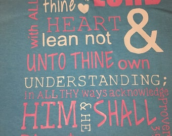 Proverbs 3:5-6 Double Sided TShirt