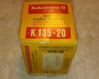 Vintage Antique 1 Roll of Kodachrome II Film for Color Slides Daylight or Blue Flash  K  135 - 20 Process before November 1970
