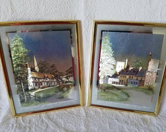 Mid Century Metallic Cottage Prints