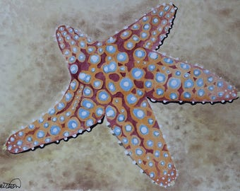 Original Giant Sea Star Watercolor Painting