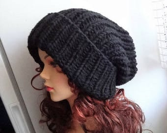 Super Slouchy Beanie Big Baggy Hat Winter Adult Teen Fashion Chunky Knit Slouchy Knitted Hat Large Men Oversized Hat winter hat big hat